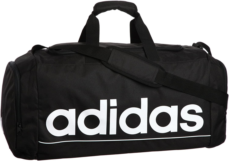 super popular 2ef9a 210bf adidas Linear ESS TBL 548957847 Sports Bag Medium 63 Litre Black   White   Amazon.co.uk  Sports   Outdoors