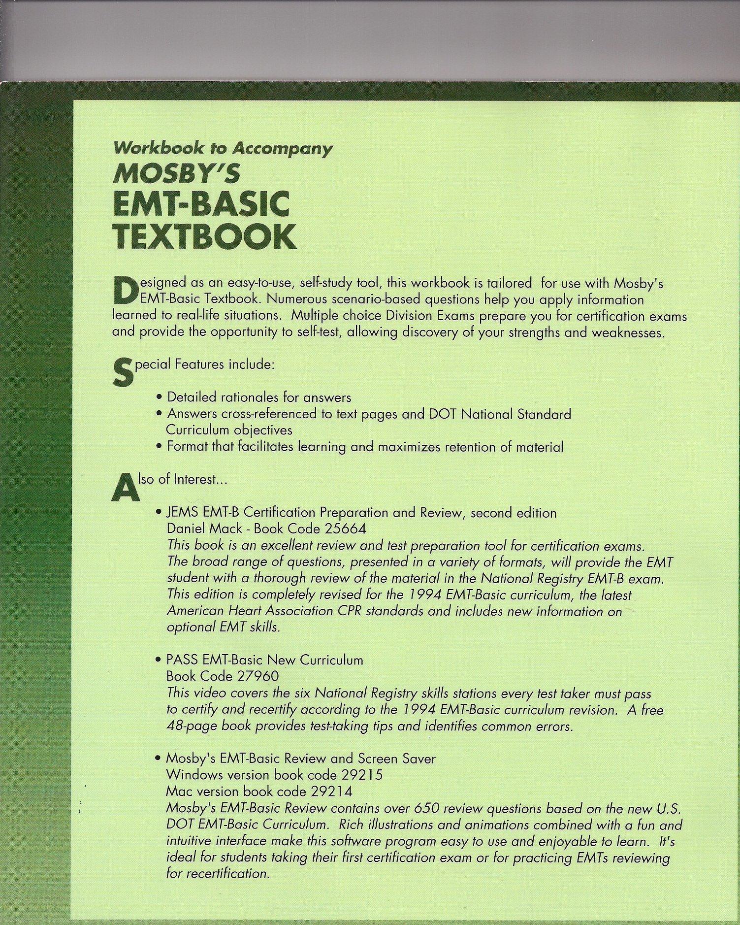 Mosbys Emt Basic Workbook Walt Stoy Phd Emt P Ccemt P