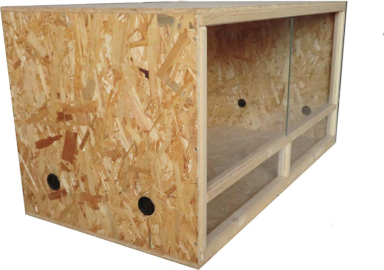 Elmato 12081 Terrario de madera madera Terrario terrariofilia de tableros OSB, 120 x 60 x 60 cm, con puerta corredera de cristal.: Amazon.es: Productos para mascotas