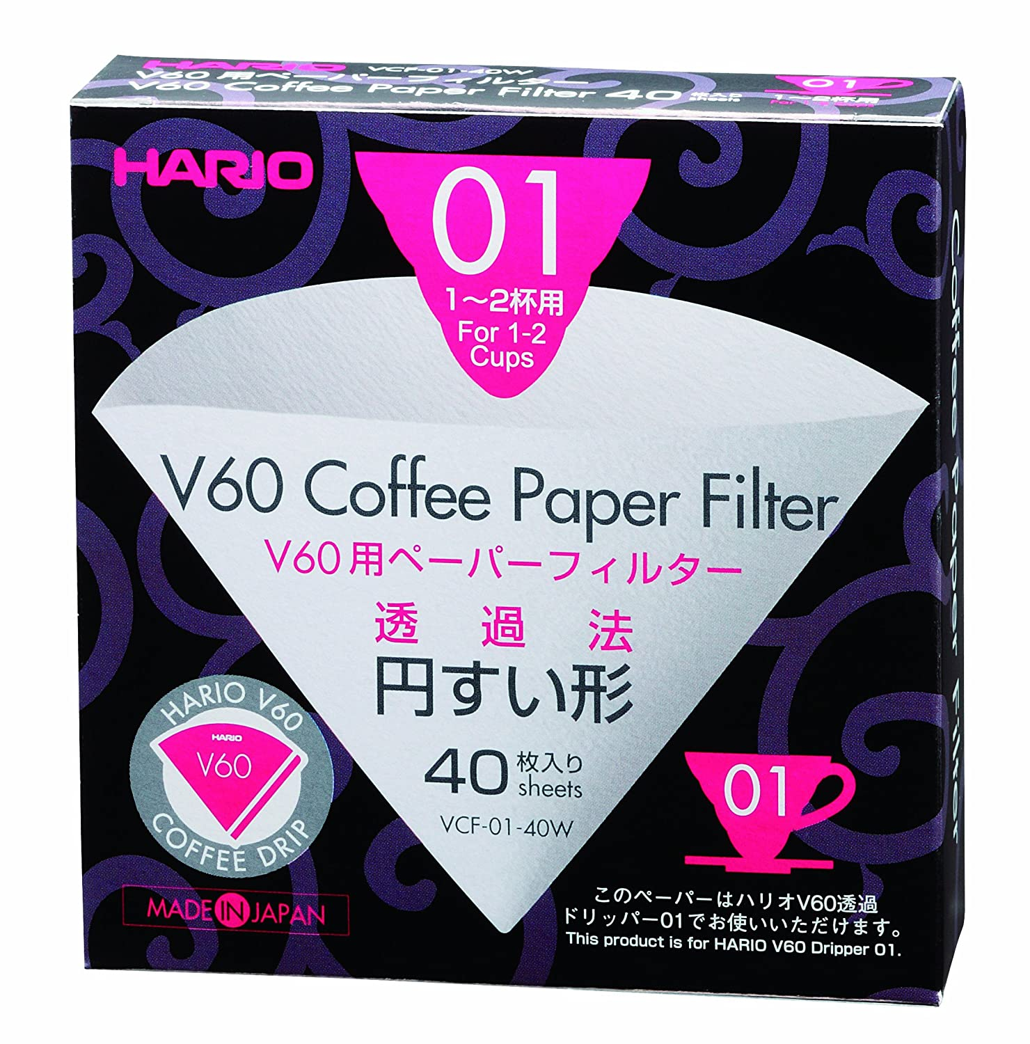 Amazon Hario V60 Paper Coffee Filters Size 02 40 Count