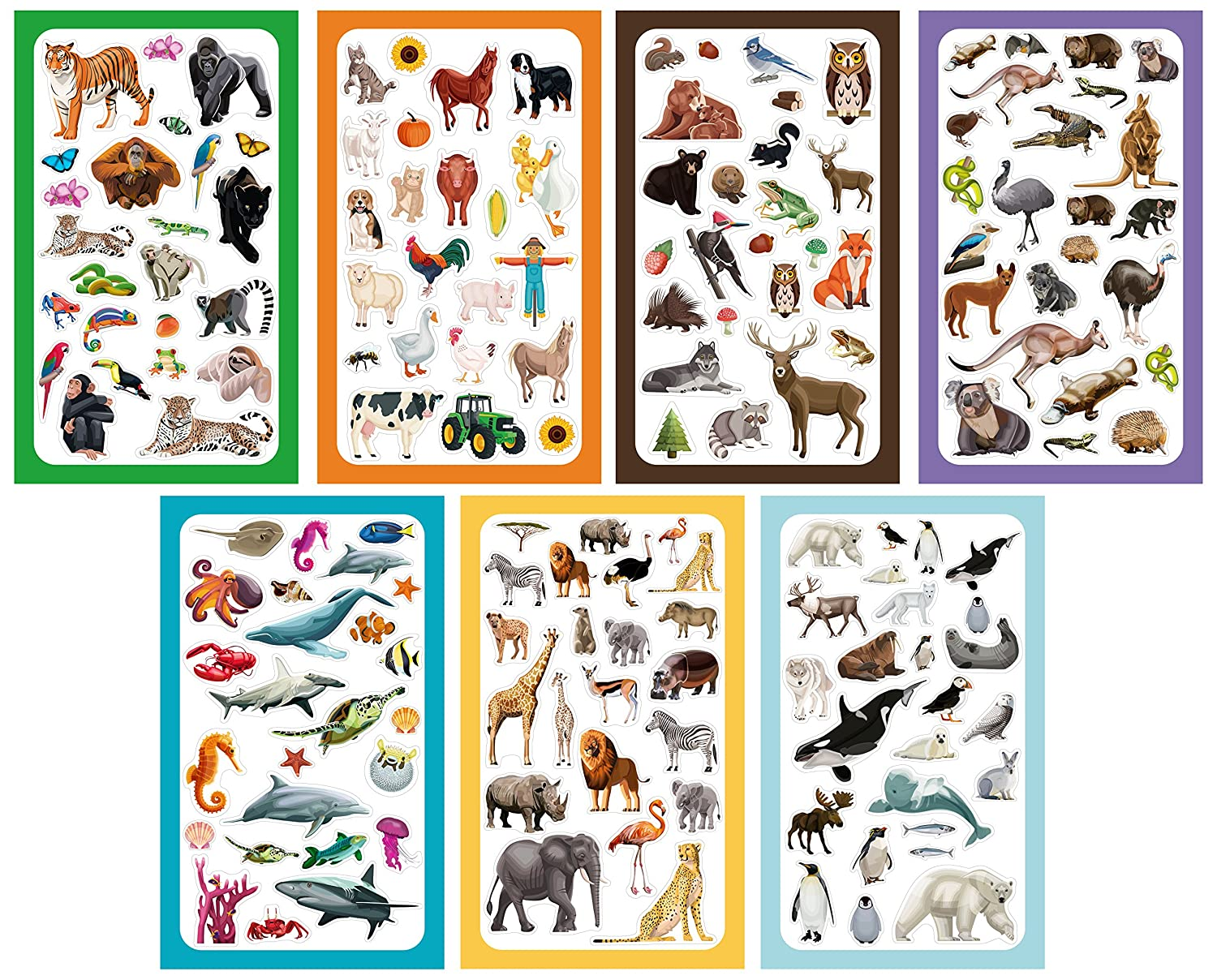 Koobar Animals of The World Sticker Variety Pack 300 Stickers
