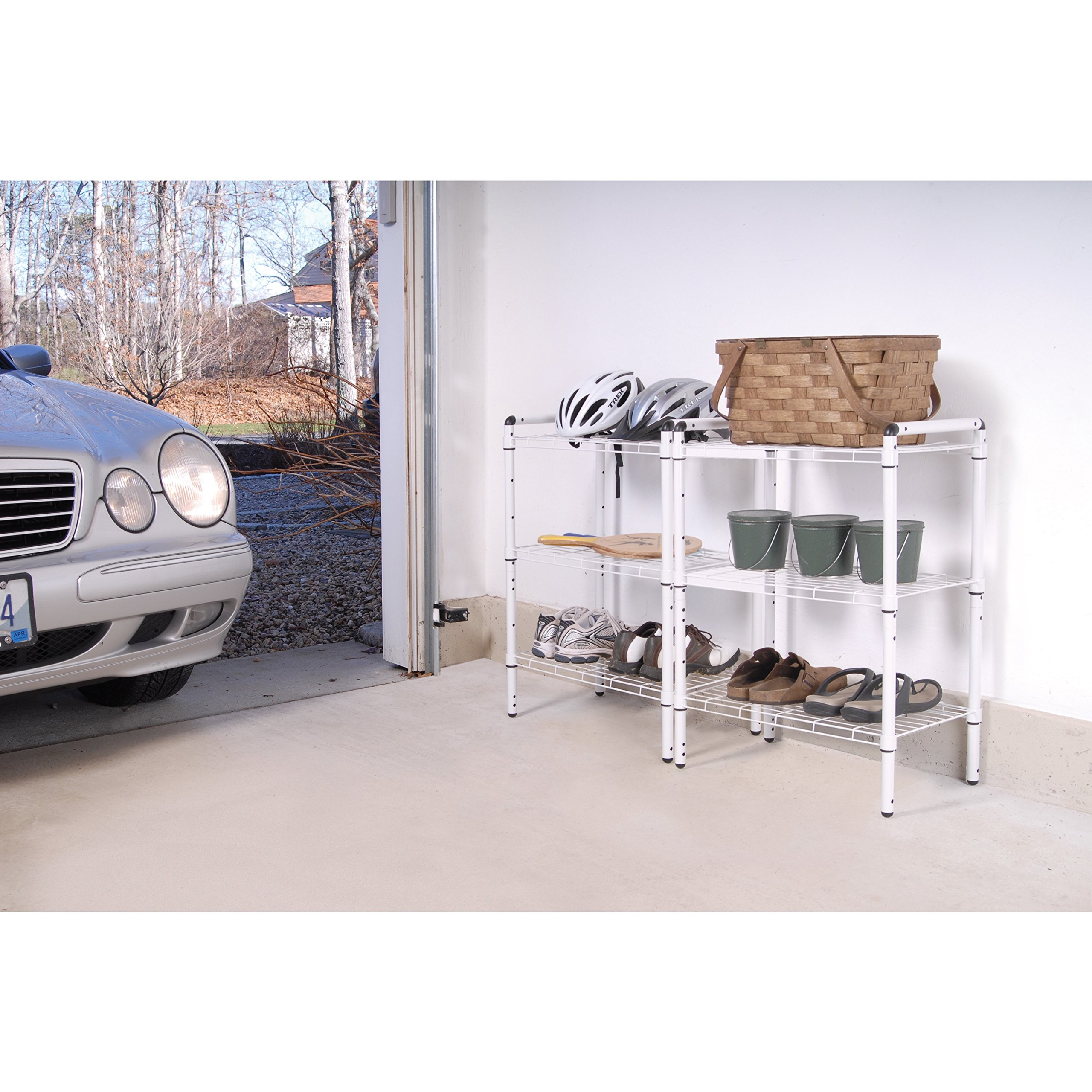 The Art of Storage White Steel 3-tier Quick Rack (Set of 2) by The Art of Storage (Image #1)