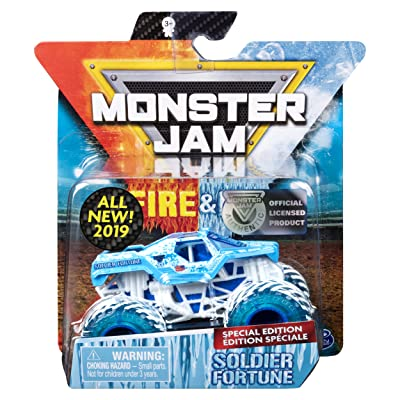 MJ 2020 Monster Jam Fire & Ice Soldier Fortune Special Edition 1:64 Scale: Toys & Games