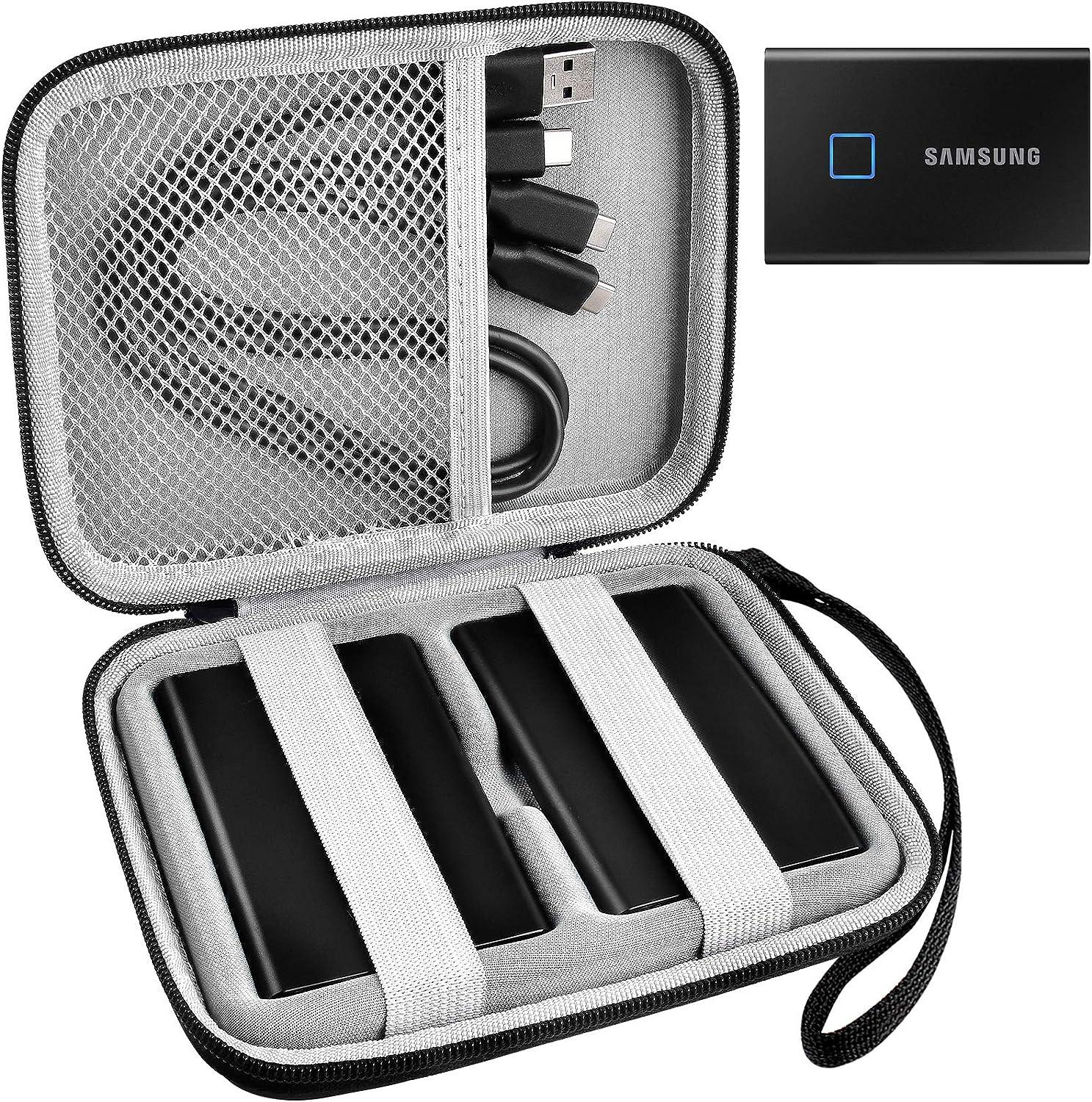 Schutzhülle Kompatibel Mit Samsung T7 Touch T7 Portable Ssd 1 Tb 2 Tb 500 Gb Usb 3 2 Externe Solid State Drive Reisebox Für 2 Samsung Ssd Und Kabel Elektronik