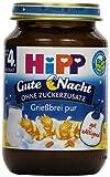 Hipp Gute Nacht, Grießbrei pur, 6er Pack (6 x 190g)