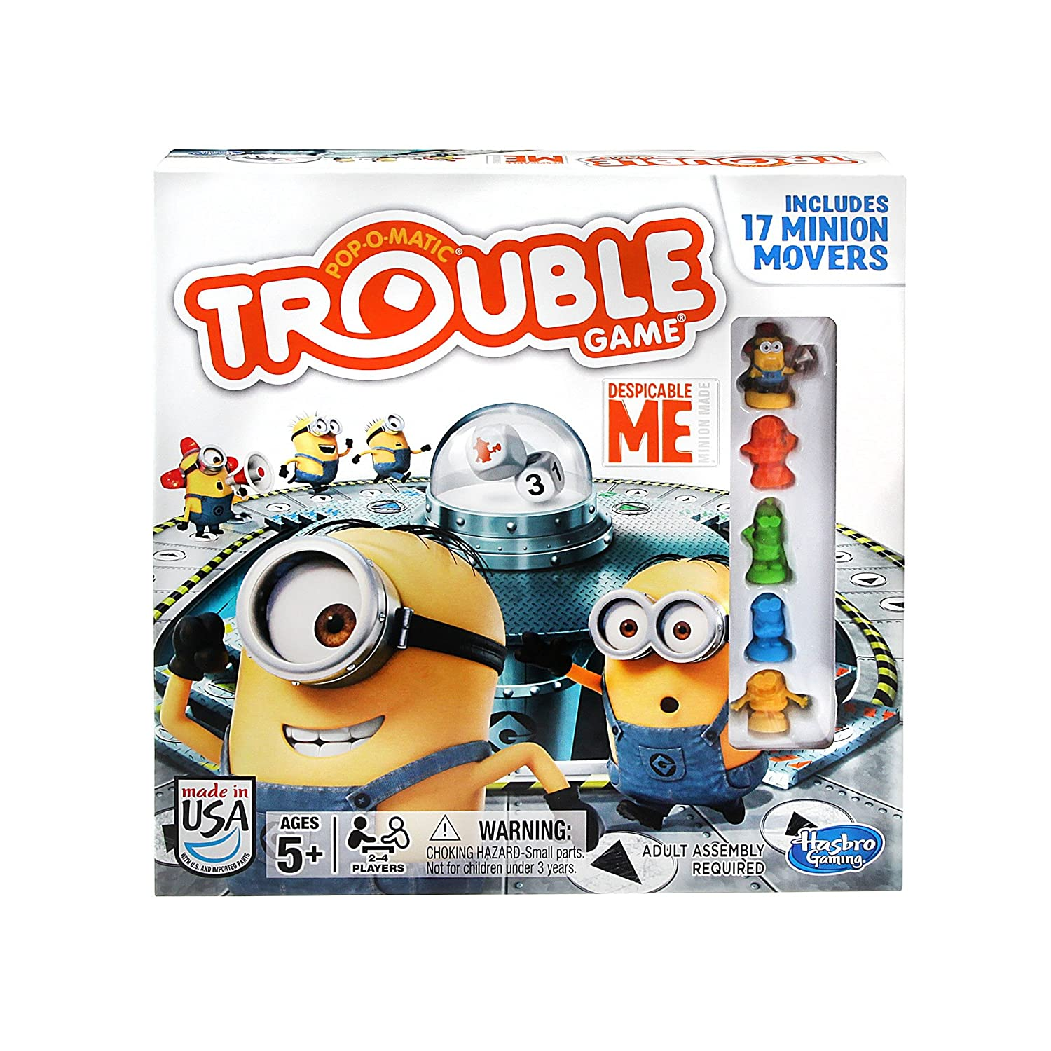 Amazon Hasbro Gaming Trouble Despicable Me Board Game Toys Games
