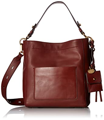 3a031ded9c Cole Haan Zoe Small Bucket Crossbody Leather Bag, fired brick: Handbags:  Amazon.com
