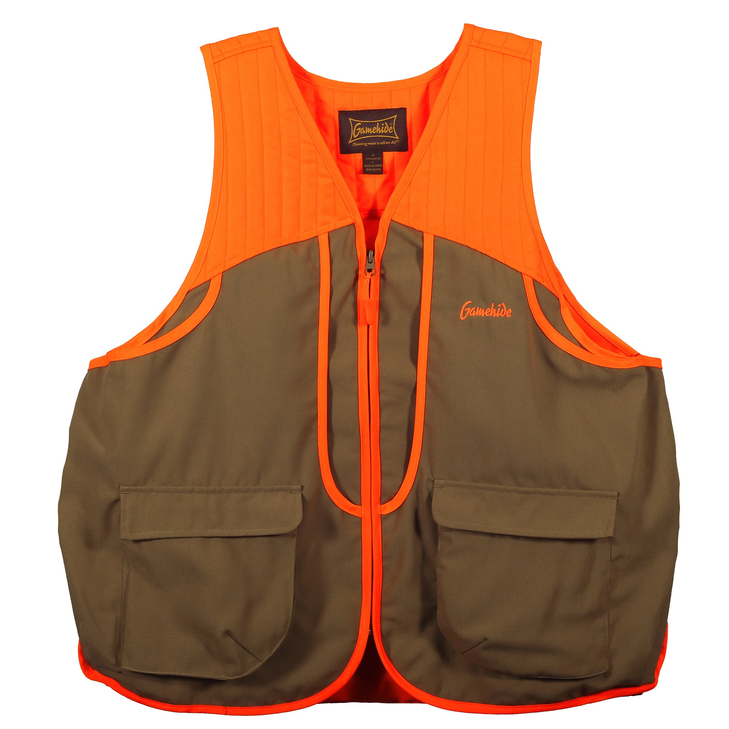 Gamehide Ladies Women's Upland Field Hunting Vest (Tan/Orange, Medium) by Gamehide