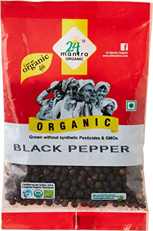 24 Mantra Black Pepper Whole, 50g