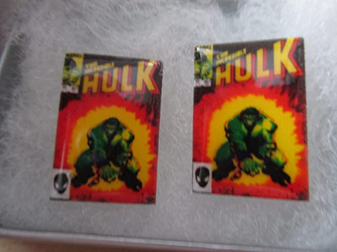 Studs The Incredible Hulk Comic Book Cover Earrings