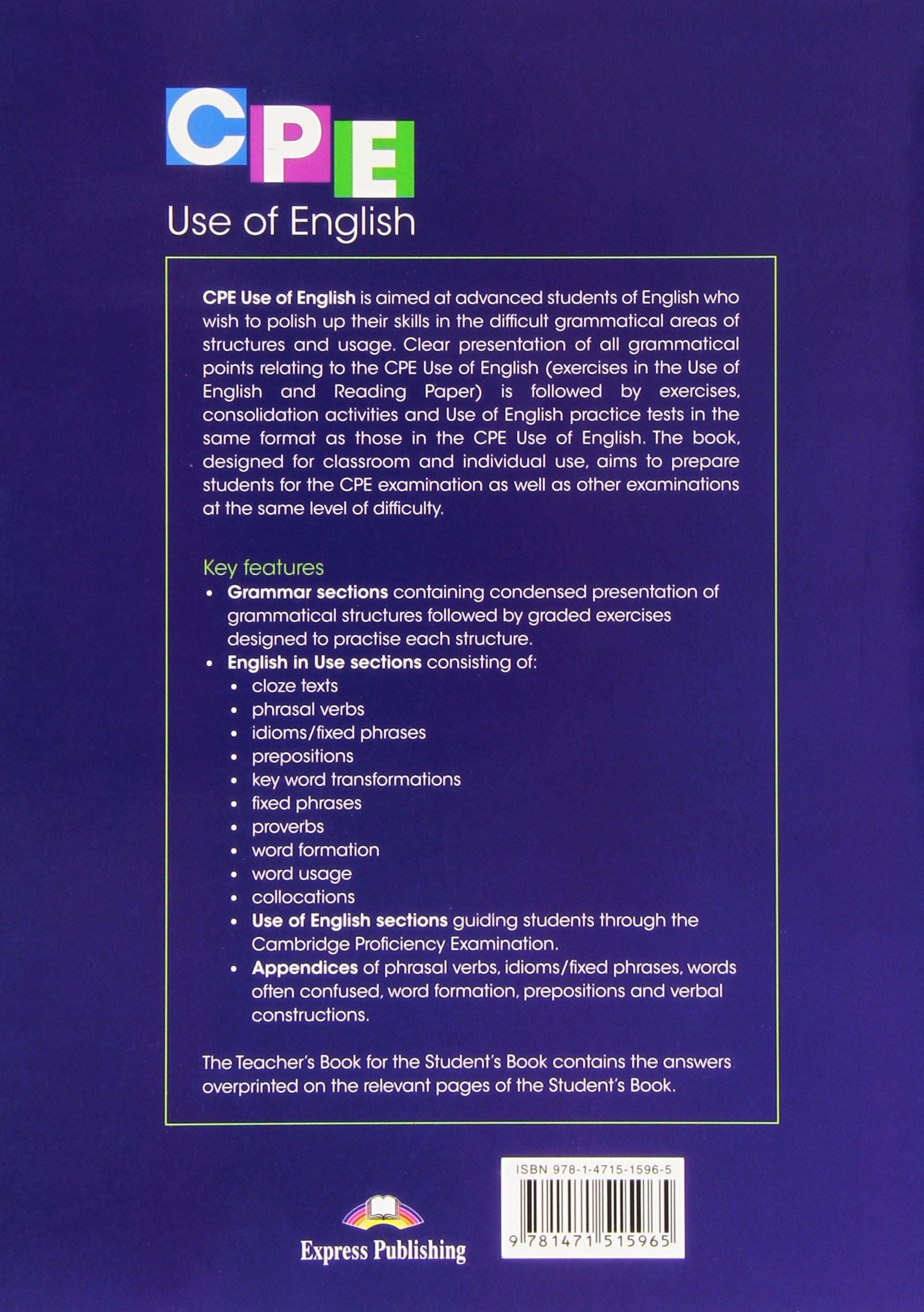 CPE Use of English Student's Book - Livros na Amazon Brasil