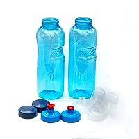 KavoDrink - 2 borracce da 0,75 litri in Tritan 100 % prive di plastificantiConfezione risparmio - 2 borracce da 0,75 litri (rotonde) 2tappi standard  2 tappi sportivi  1tappo per bevande (Push&Pull) privo di plastificanti e sostanze tossiche  privo di BPA e BPS inodore e insapore prodotto in Austria ideale per scuola sport yoga escursionismo viaggio ufficio università auto