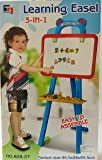 kidzone 3 In 1 Educational Magnetic White Chalk Board Learning Easel For Kids 84 Pcs