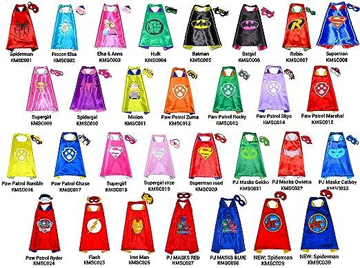 Spiderman Azul Capa y máscara para niños superhéroe - Superhéroes niños niñas niños Fancy disfraz de fiesta hasta Capes para 2 A 11 Años - satinado doble ...
