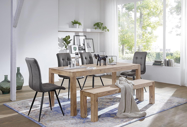 FineBuy Esstisch Massivholz Akazie 80 X 80 X 76 Cm Esszimmer Tisch Design  Küchentisch Modern ...