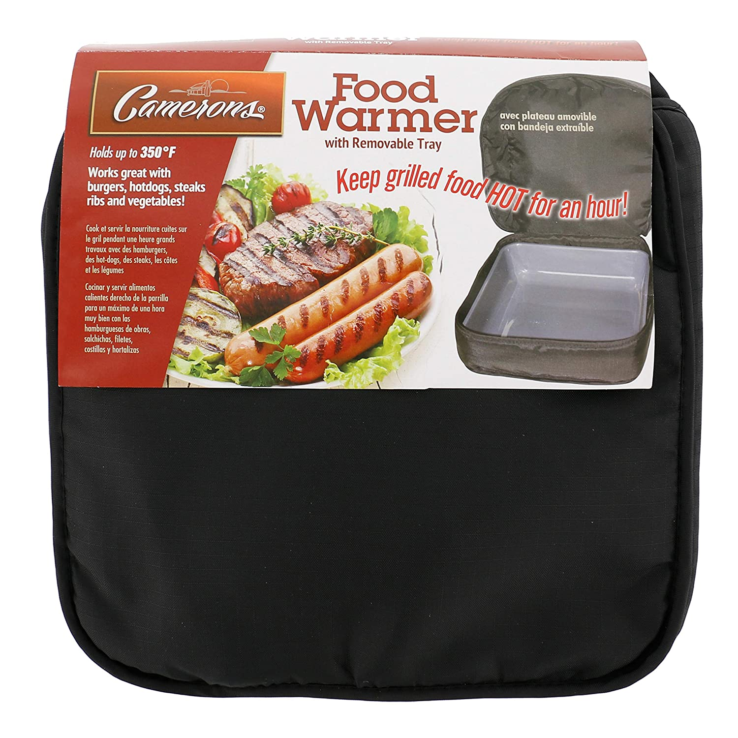 Grill Warmer with Built In Serving Dish - Keeps Food Hot for up to One Hour