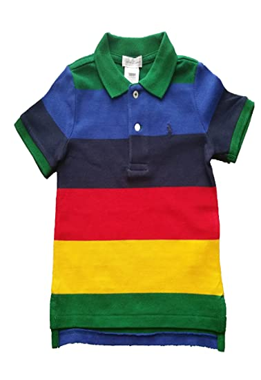 90178cec2c Amazon.com: RALPH LAUREN Polo Toddler Boys Cotton Striped Polo Shirt:  Clothing