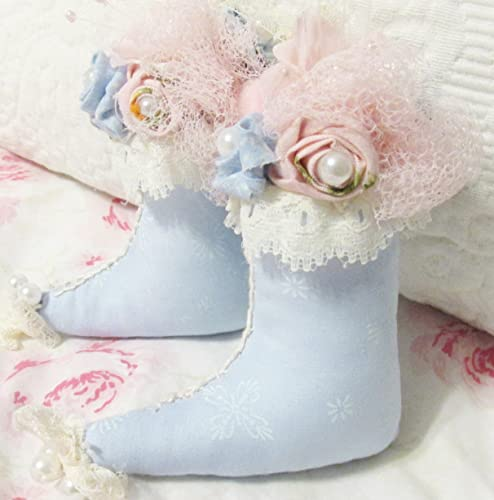 shabby chic christmas boot ornaments