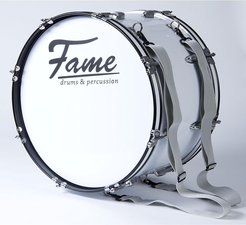 """Fame Marching BassDrum 18/""""x12/"""" mit Tragegurt /& Beater"""