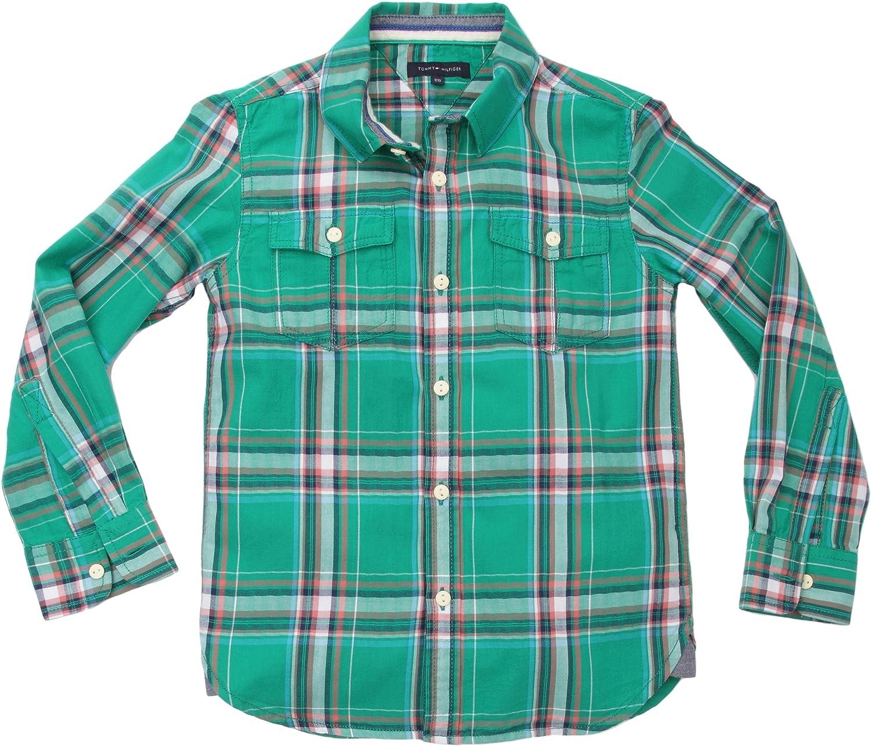 Tommy Hilfiger - Camisa para niño, Talla 12 ANS - Talla ...