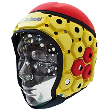 McDavid adultos casco 683 Rugby 3d HexPad – , color - rot / gold, tamaño