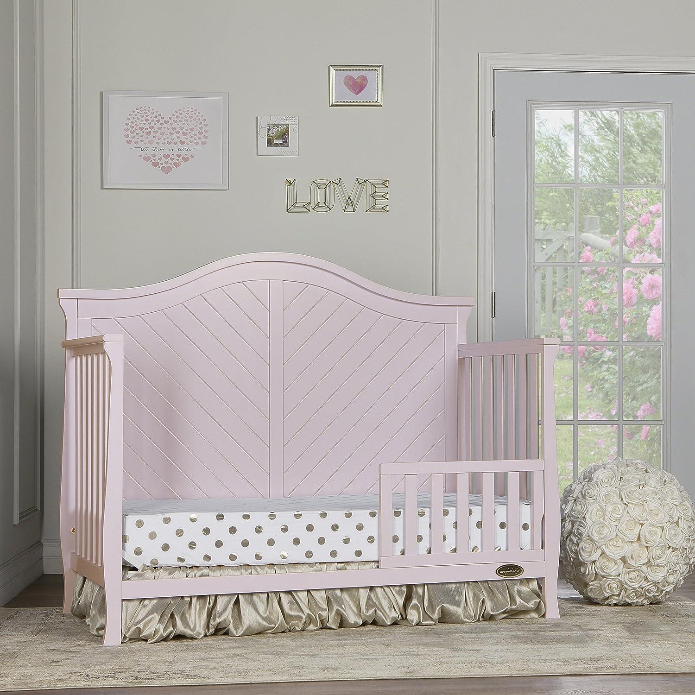 Blush Pink Dream On Me Kaylin 5-in-1 Convertible Crib