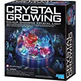 4M Crystal Growing Color Changing LED Light Kids Science Kit - Easy DIY STEM Toys Lab Experiment Specimens, A Great Education