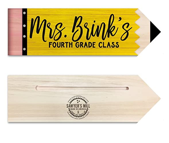 Personalized Teacher Name Wood Sign 4 Inch By 12 Inch Unique End Of Year Teacher Gifts