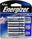 Energizer Ultimate Lithium AA 4 Batteries L91