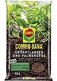 Compo Sana 1143102004 Grön växt- och Palmjord med 12 veckors Gödselmedel för alla Inomhus- och Balkongväxter samt Palmer…