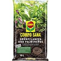 Compo Sana Groene planten- en palmaarde met 8 weken meststof voor alle kamer- en balkonplanten en palmen en varens…