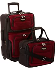 Traveler's Choice Travel Select Amsterdam Two-Piece Carry-On Luggage Set, Burgundy, One Size