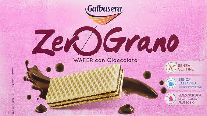Galbusera ZeroGrano Wafer con Cioccolato , Pacco da 12 x 180 g, Senza  glutine