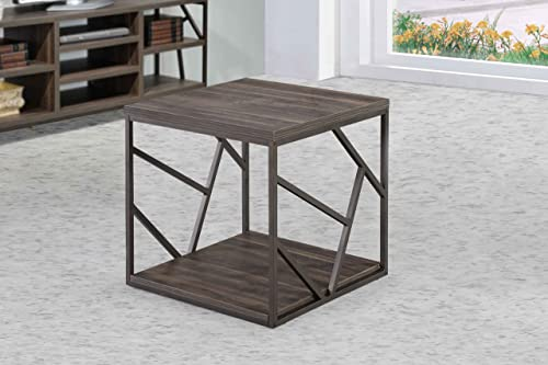 Intercon Lifestyles Studio Living Collection, End Table, Weathered Dark Gray Finish