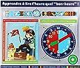 Baby Watch - Coffret Matelot - Montre Garçon - Montre Pédagogique 4-7 ans - Cadran Bleu - Bracelet Plastique Multicolore
