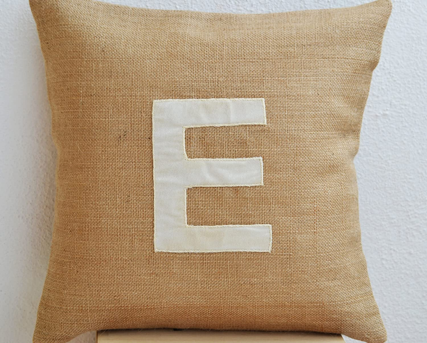 Applique Monogram Pillow Cover