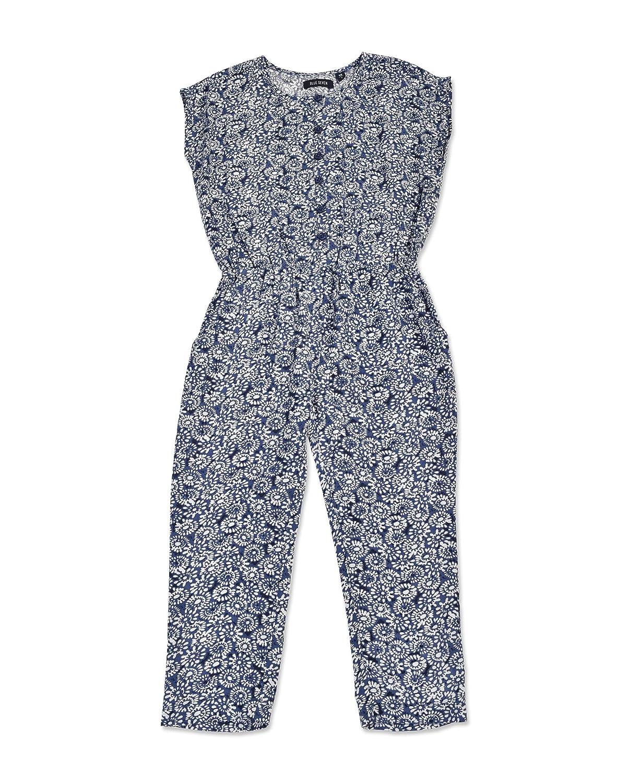 Blue Seven - Pantalon - Fille bleu bleu/blanc