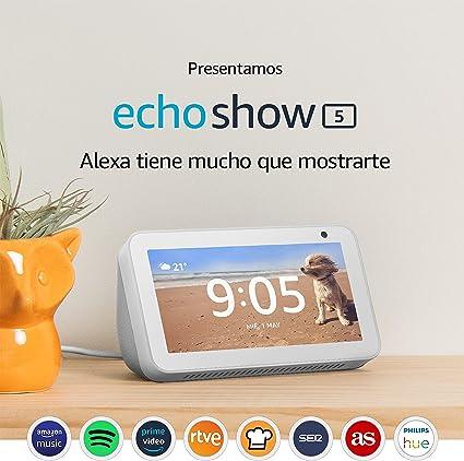 Oferta amazon: Echo Show 5 reacondicionado certificado, una pantalla inteligente y compacta con Alexa, blanco