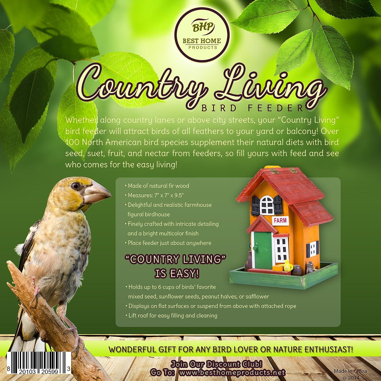 amazon com bird feeder unique and decorative wooden bird