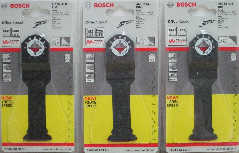Bosch 2608662313/Lame de scie plongeante AIZ 32/Alb BIM Speed bois et m/étal lot de 3 70/x 32/mm