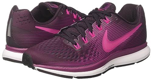 Amazon.com | Nike Womens Air Zoom Pegasus 34 Running Shoe Port Wine/Deadly Pink-Tea Berry-Black 9.5 | Road Running