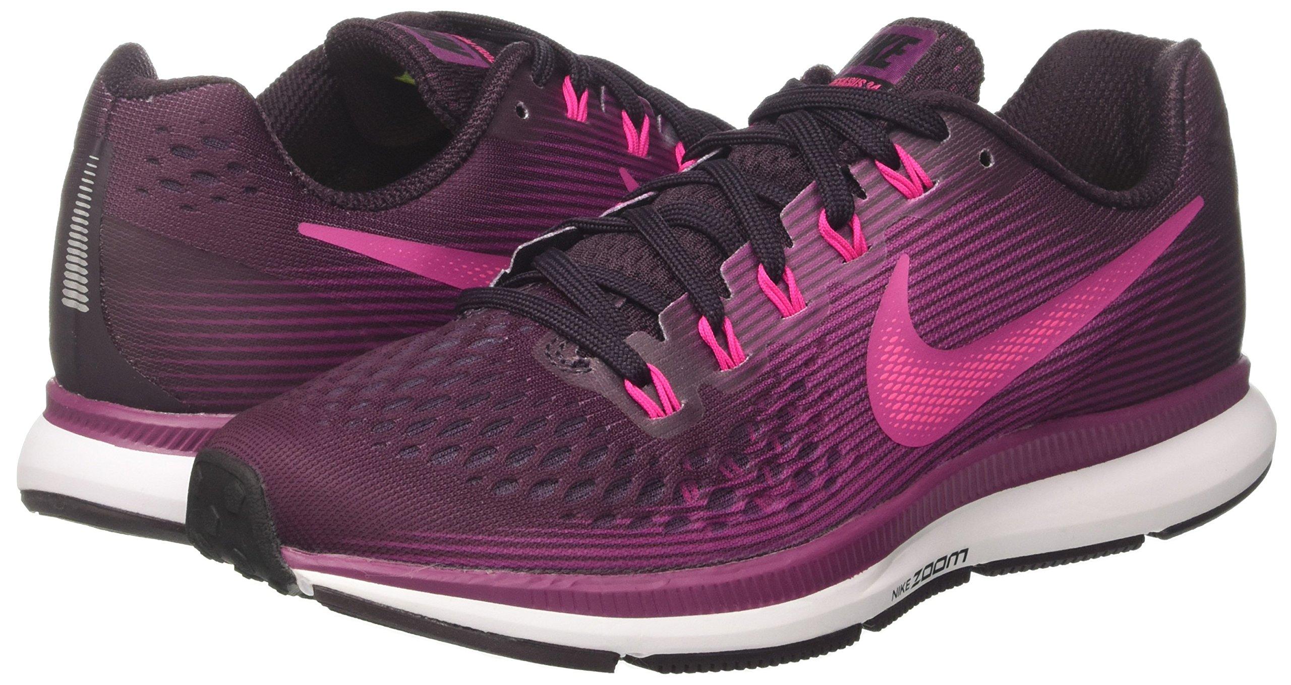 NIKE Women's Air Zoom Pegasus 34 Port Wine/Deadly Pink Running Shoe 7 Women US by NIKE (Image #5)
