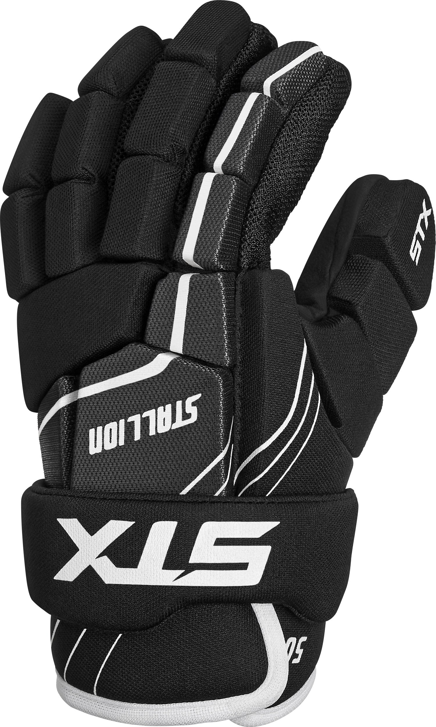 STX Lacrosse Stallion 50 Youth Gloves, Black, X-Small