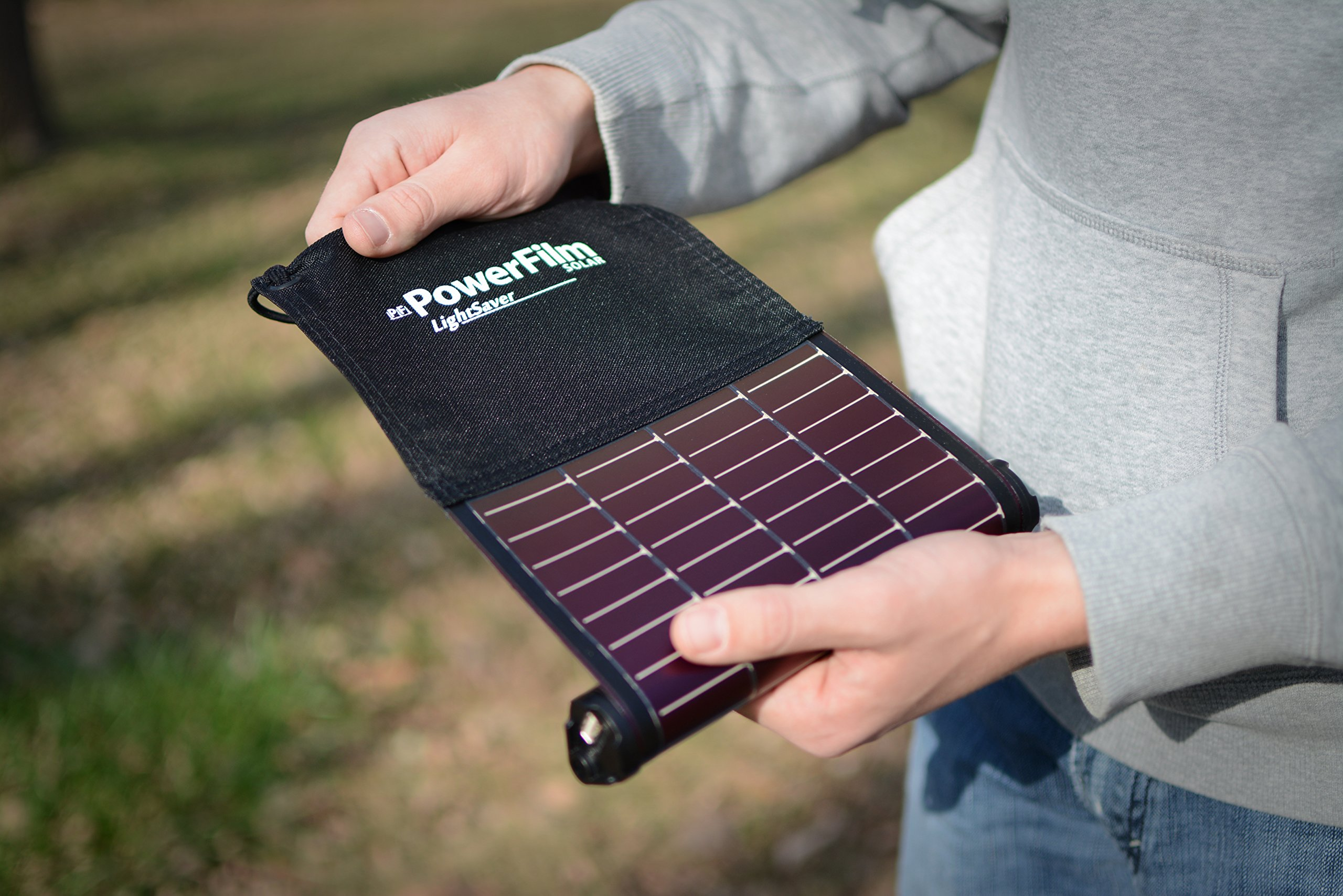 LightSaver USB Roll-up Solar Charger - Battery Bank by PF POWERFILM