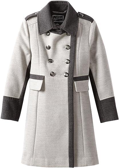 Amazon.com: Rothschild Big Girls' Big Faux Wool Military Style ...
