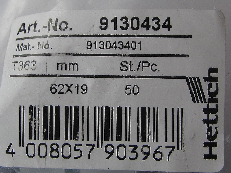 HKB/® Schrankaufh/änger mit Schl/üssellochung 2 St/ück 9130434 62 x 19 mm Stahl verzinkt