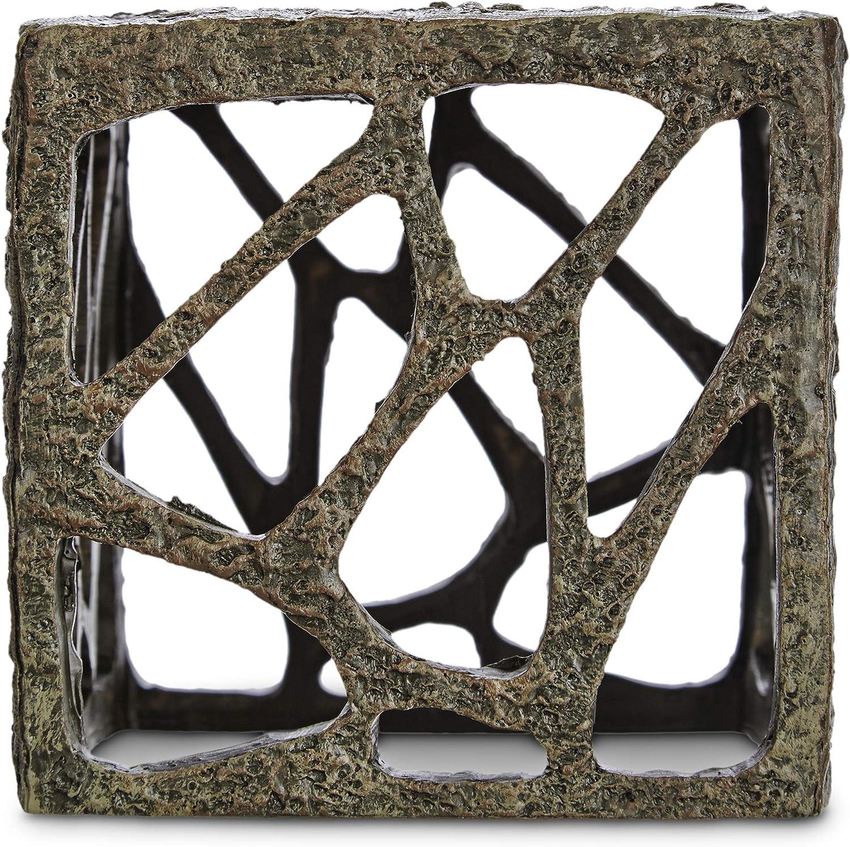 Imagitarium Resin Rustic Cube Aquatic Decor, Standard, Multi-Color