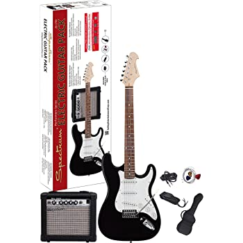 spectrum ail 278a electric guitar pack black musical instruments. Black Bedroom Furniture Sets. Home Design Ideas