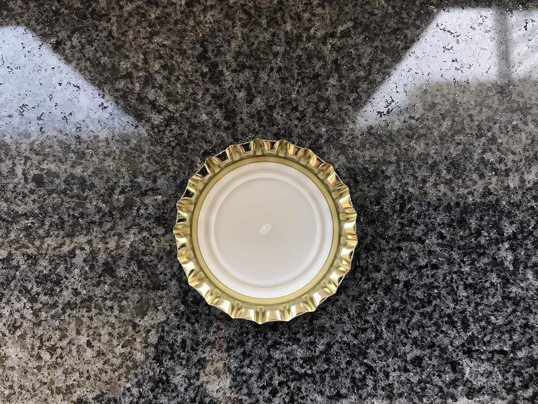 Kronkorken Gold 26 mm ungestanzt 100 o 125 St 75 AE-GLAS 50 50 Unidades para Bierflaschen Limonadeflaschen y para Cerrar Cualquier Standardflaschen
