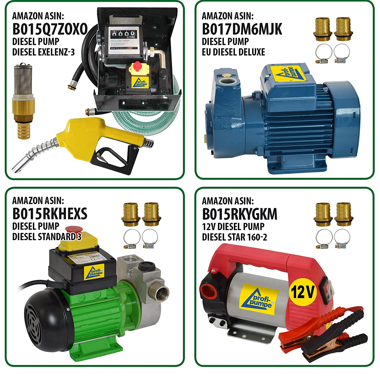 Amazon.es: BOMBA TRASVASE GASOLIO - BOMBA DIESEL - BOMBA ASPIRACIÓN - BOMBA DE COMBUSTIBLE 230V BOMBA AUTOCEBANTE DeLUXE CKm370 para agua, biodiesel, ...